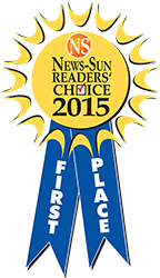 2015 News-Sun Reader's Choice first place winner!