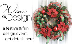 Join us for a special holiday wreath design class!