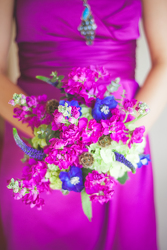Fushia Bridesmaid Bouquet from your Sebring, Florida florist