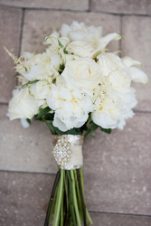 Cream  Bridal Clutch  from your Sebring, Florida florist
