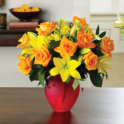 Citrus Roses & Lilies from your Sebring, Florida florist