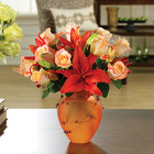 Fiery Roses & Lilies from your Sebring, Florida florist
