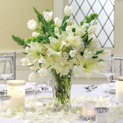 Pearled Passions Centerpiece from your Sebring, Florida florist