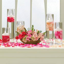 Blushing Beauty Altar Arrangement from your Sebring, Florida florist