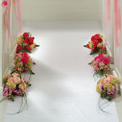 Blushing Beauty Aisle Flowers from your Sebring, Florida florist