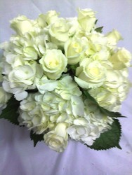 Cream Rose & Hydrangea Bouquet from your Sebring, Florida florist