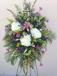 Peaceful Standing Spray from your Sebring, Florida florist