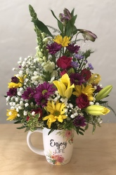 Coffee And Flowers Make Me Happy from your Sebring, Florida florist