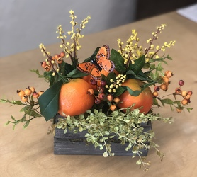 Faux Oranges In Crate from your Sebring, Florida florist