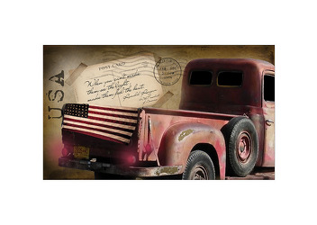 Lighted American Truck Canvas from your Sebring, Florida florist