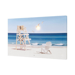 Lighted and Musical Beach Canvas from your Sebring, Florida florist