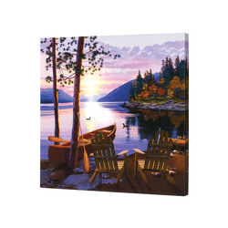 Canoe and Lake Canvas from your Sebring, Florida florist