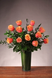 One Dozen Cherry Brandy Roses from your Sebring, Florida florist