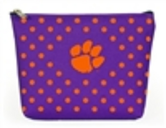 Clemson Tigers Polka Dot Pouch from your Sebring, Florida florist