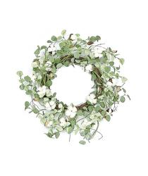 Faux Cotton and Eucalyptus Wreath from your Sebring, Florida florist