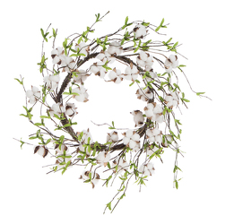 Cotton Boll Wreath from your Sebring, Florida florist