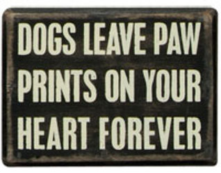 Dog Paw Prints Box Sign from your Sebring, Florida florist
