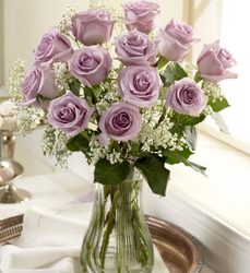 A Dozen Lavender Roses Arranged from your Sebring, Florida florist