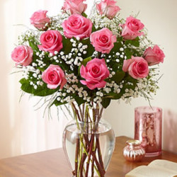 Dozen Pink Roses Arranged from your Sebring, Florida florist