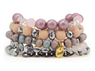 Erimish Cheesecake Stack Bracelets Set of Five from your Sebring, Florida florist
