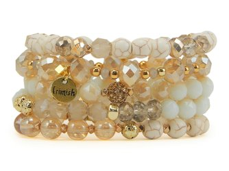 Erimish Coconut  Stack Bracelets Set of Five from your Sebring, Florida florist