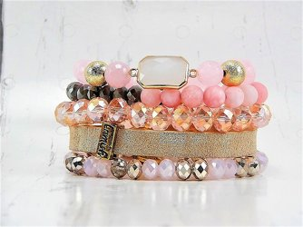 Honey Stack Bracelet Set from your Sebring, Florida florist