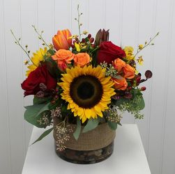 Sunflowers And More Cylinder from your Sebring, Florida florist