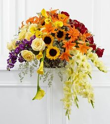 Fall Sympathy Vase from your Sebring, Florida florist