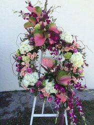 Tropical Feminine Wreath from your Sebring, Florida florist