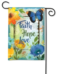 Faith Hope Love Flag from your Sebring, Florida florist