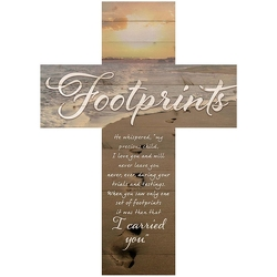 Footprints Wall Decor Cross from your Sebring, Florida florist