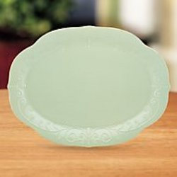French Perle Ice Blue Oval Platter from your Sebring, Florida florist