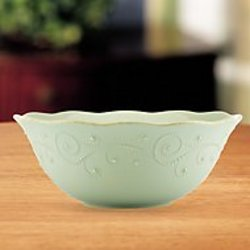 French Perle Ice Blue Serving Bowl from your Sebring, Florida florist