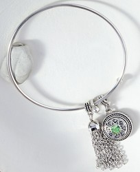 Petite Wire Bangle W/Tassel from your Sebring, Florida florist