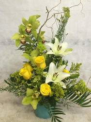 Green Cymbidiums and Lilies Oh My from your Sebring, Florida florist