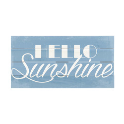 Hello Sunshine Wood Crate Sign from your Sebring, Florida florist