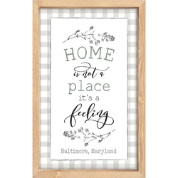 Home Is A Feeling Wall Decor Sebring from your Sebring, Florida florist