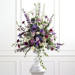 Pedestal Arrangement For The Altar from your Sebring, Florida florist