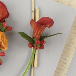 Russet Miniature Calla Lily Boutonniere from your Sebring, Florida florist