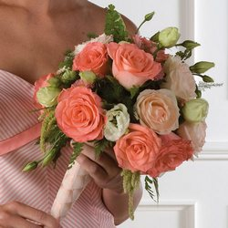 Coral Rose Bridal Bouquet from your Sebring, Florida florist