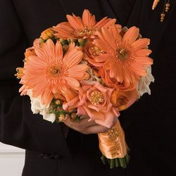 Peach Gerbera Bridal Bouquet from your Sebring, Florida florist