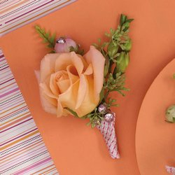 Delicate Rose Boutonniere from your Sebring, Florida florist