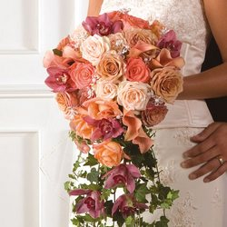 Stunning bridal cascade bouquet from your Sebring, Florida florist