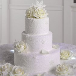 White Roses For Your Wedding Cake from your Sebring, Florida florist