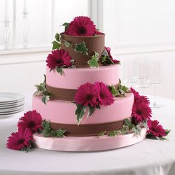 Gerbera Daisies on your cake from your Sebring, Florida florist