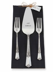 Mud Pie Just Married Serve Set from your Sebring, Florida florist