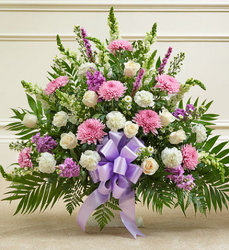 Lavender Pink and White Sympathy Basket from your Sebring, Florida florist