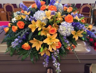 Shades of Blue and Orange from your Sebring, Florida florist