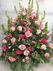 Pink Sympathy Vase from your Sebring, Florida florist
