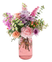 Pink Mason Jar from your Sebring, Florida florist